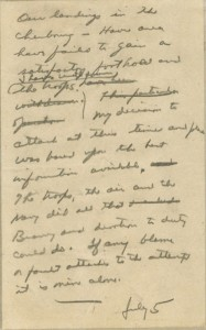 The notebook draft of the greatest speech Eisenhower would never give.